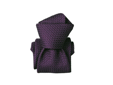 SuitedMan D'Italia Grenadine Tie, Purple - SuitedMan