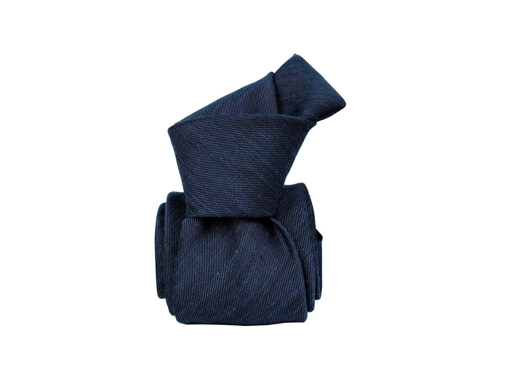 Tie, Navy Chambray - SuitedMan