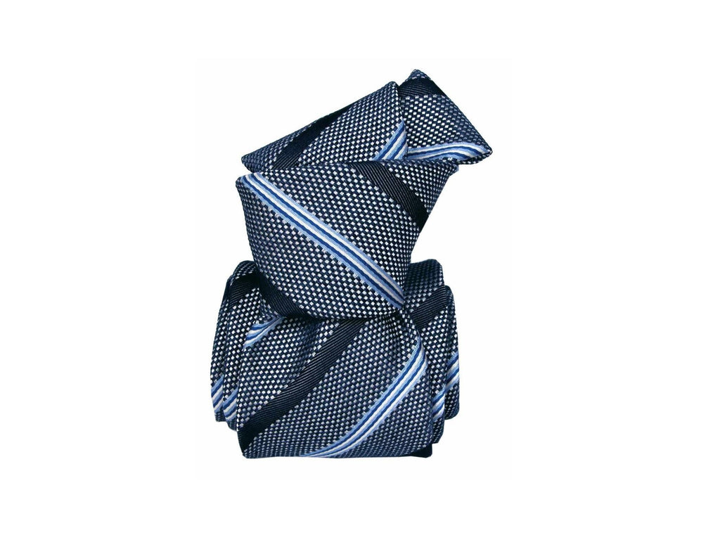 SuitedMan D'Italia Tie, Blue Stripes - SuitedMan