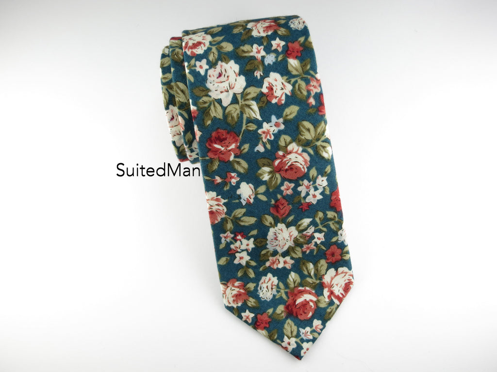 Floral Tie, Antique Rose - SuitedMan
