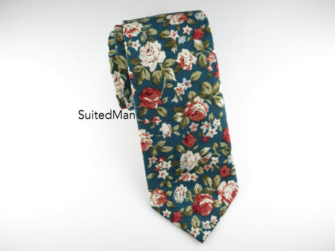Floral Tie, Antique Rose