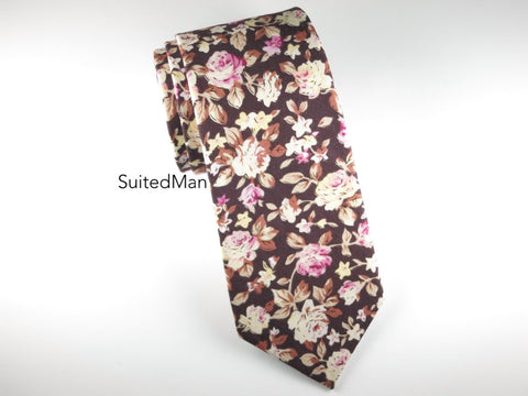 Floral Tie, Chocolate Rose
