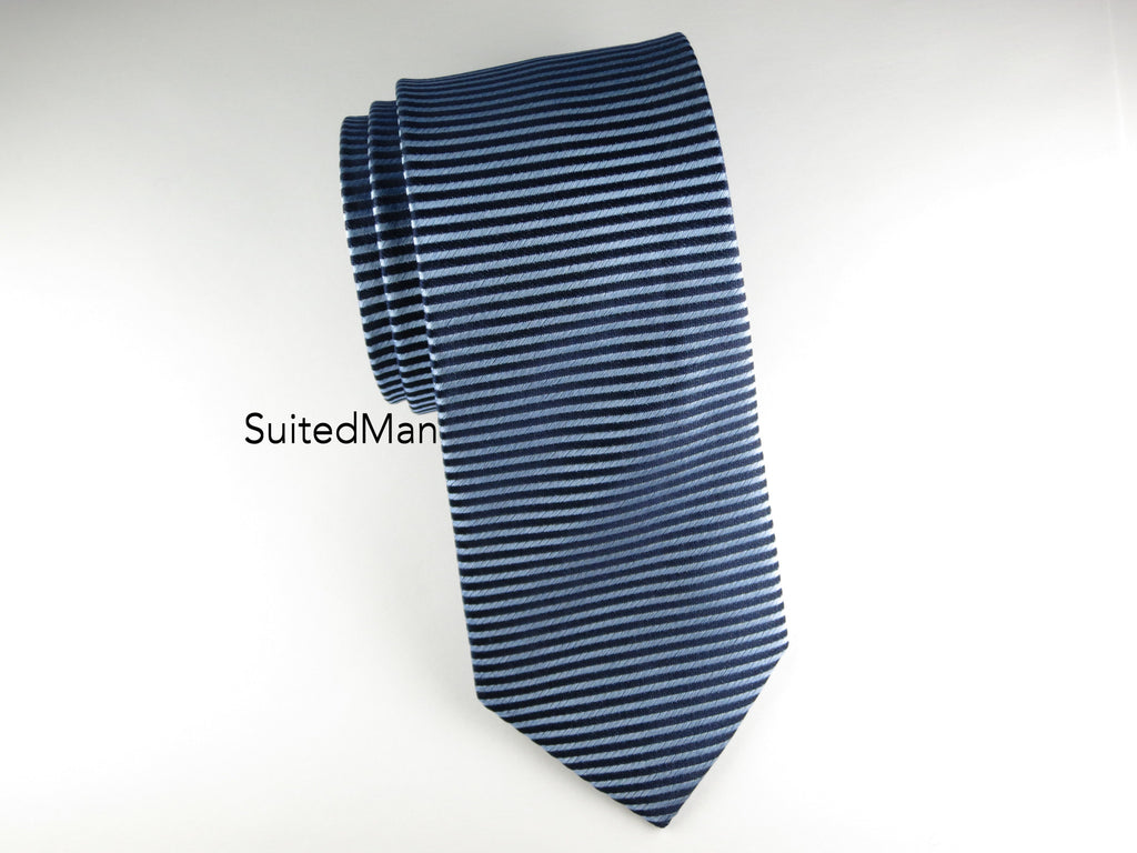 Tie, Horizontal Blues - SuitedMan