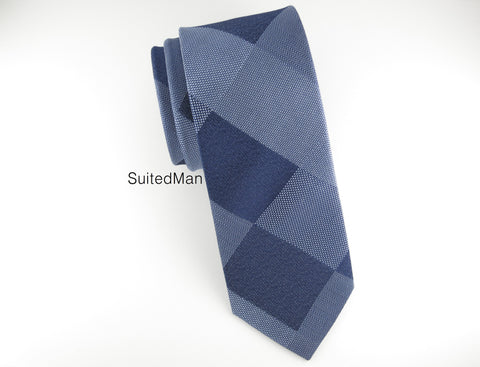 Tie, Shades of Blue Patchwork