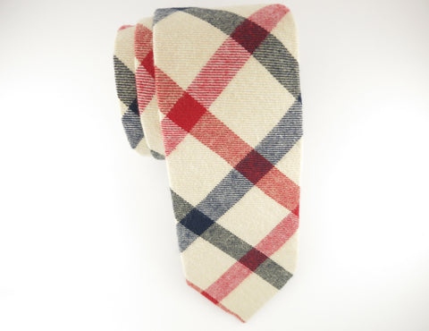 Tie, Plaid, Tan/Red - SuitedMan