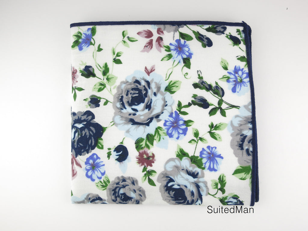 Pocket Square, Vintage Blue - SuitedMan
