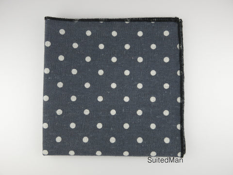 Pocket Square, Dots, Vintage Gray