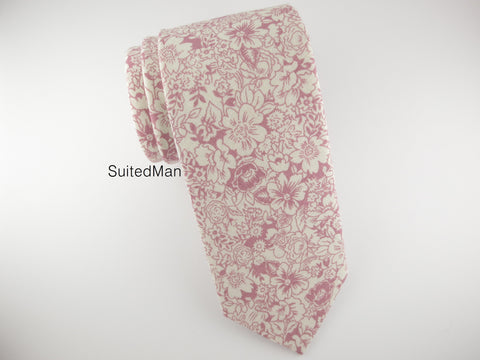 Floral Tie, Vintage White/Pink Floral (Extremely Limited)
