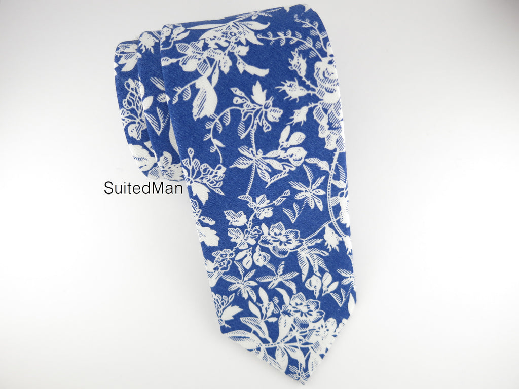 Floral Tie, White Rose - SuitedMan