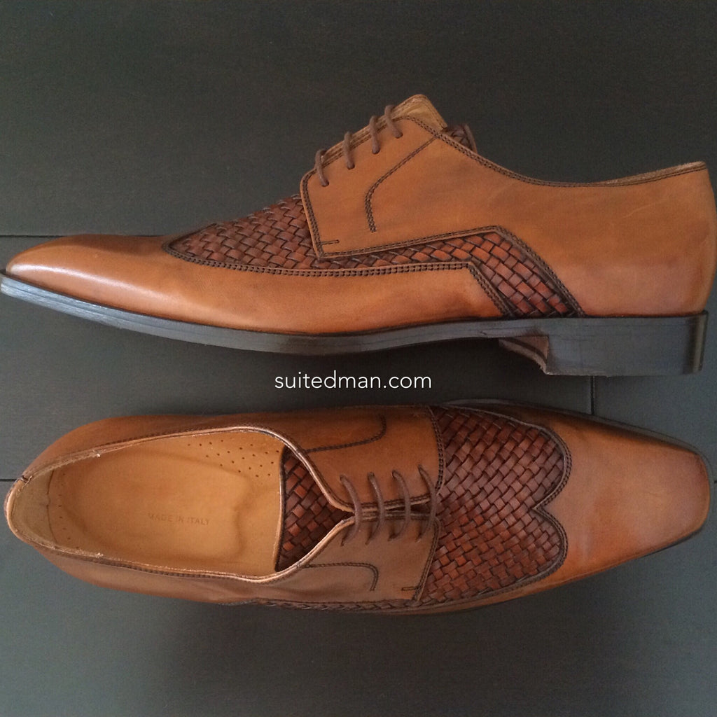 Shoes, Woven Wingtips (Limited) - SuitedMan