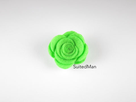 Lapel Flower, Felt, Rose, Spring Green