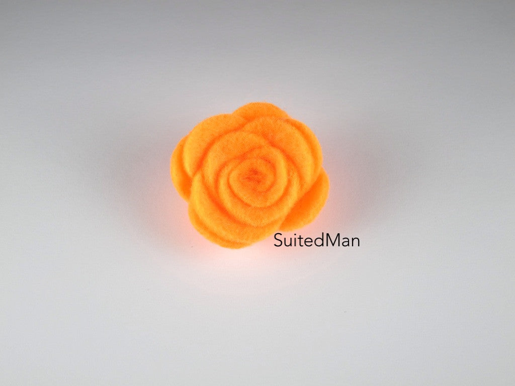 Lapel Flower, Felt, Rose, Carrot - SuitedMan
