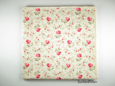 Pocket Square, English Rose (Extremely Limited)