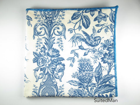 Pocket Square, Blue Jay (Extremely Limited) - SuitedMan
