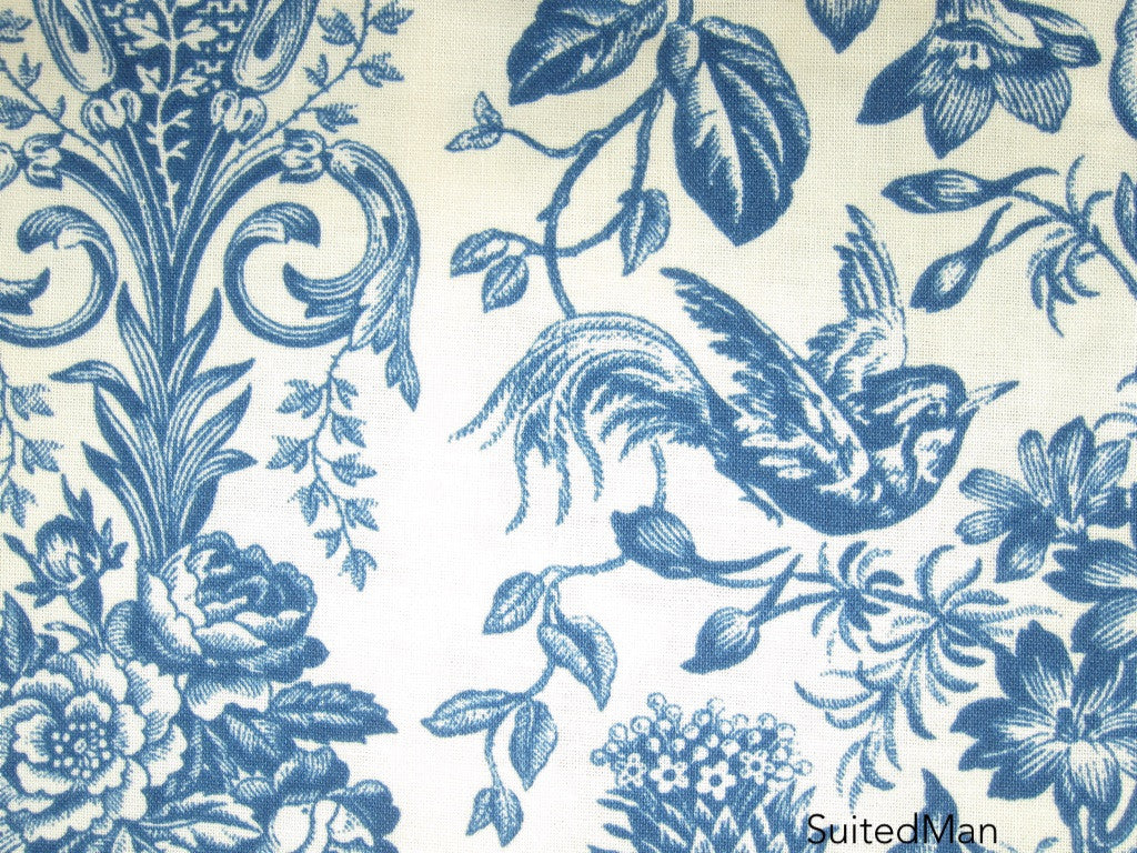 Pocket Square, Blue Jay with Signature Leaf (Extremely Limited) - SuitedMan