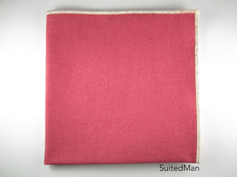 Pocket Square, Linen, Red - SuitedMan