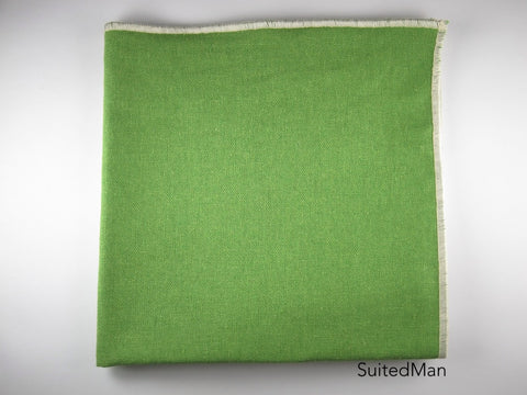 Pocket Square, Linen, Green