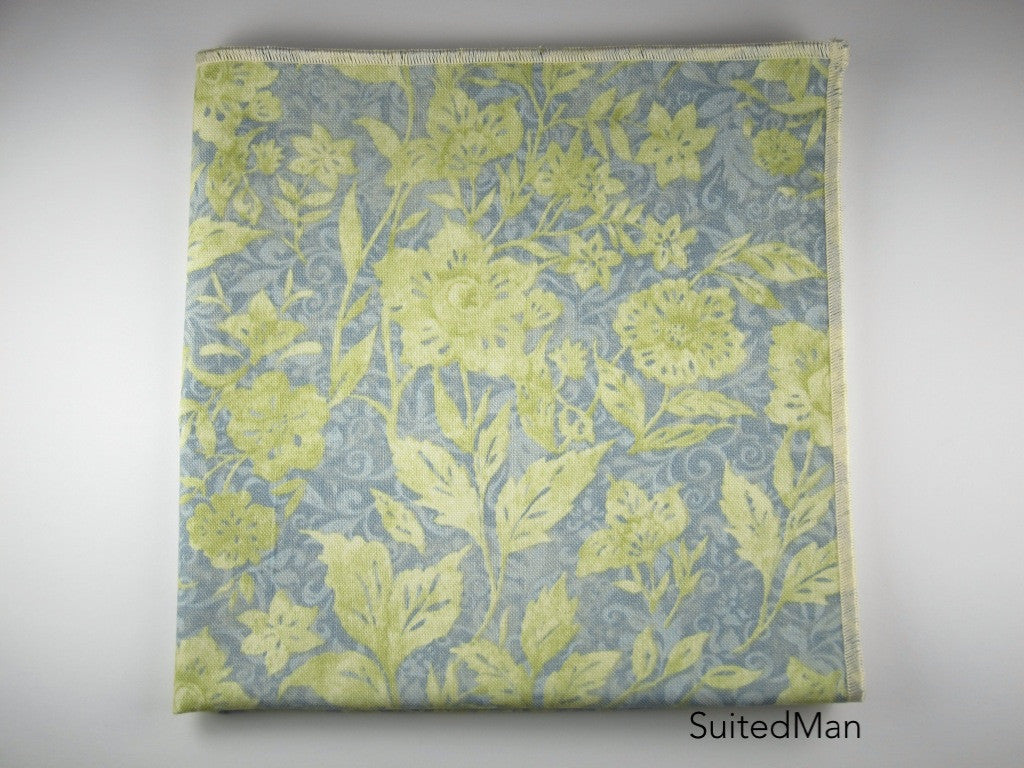 Pocket Square, Floral Scroll - SuitedMan