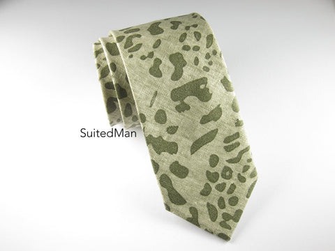 Tie, Safari, Shades of Green - SuitedMan