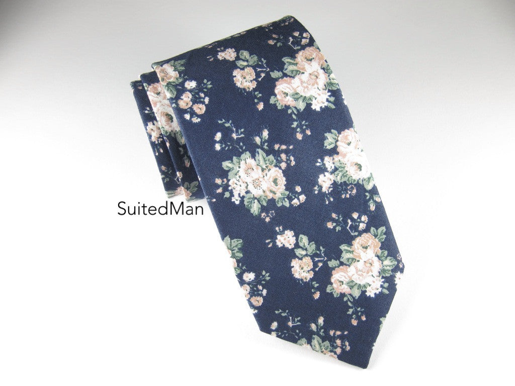 Floral Tie, Vintage Bloom - SuitedMan