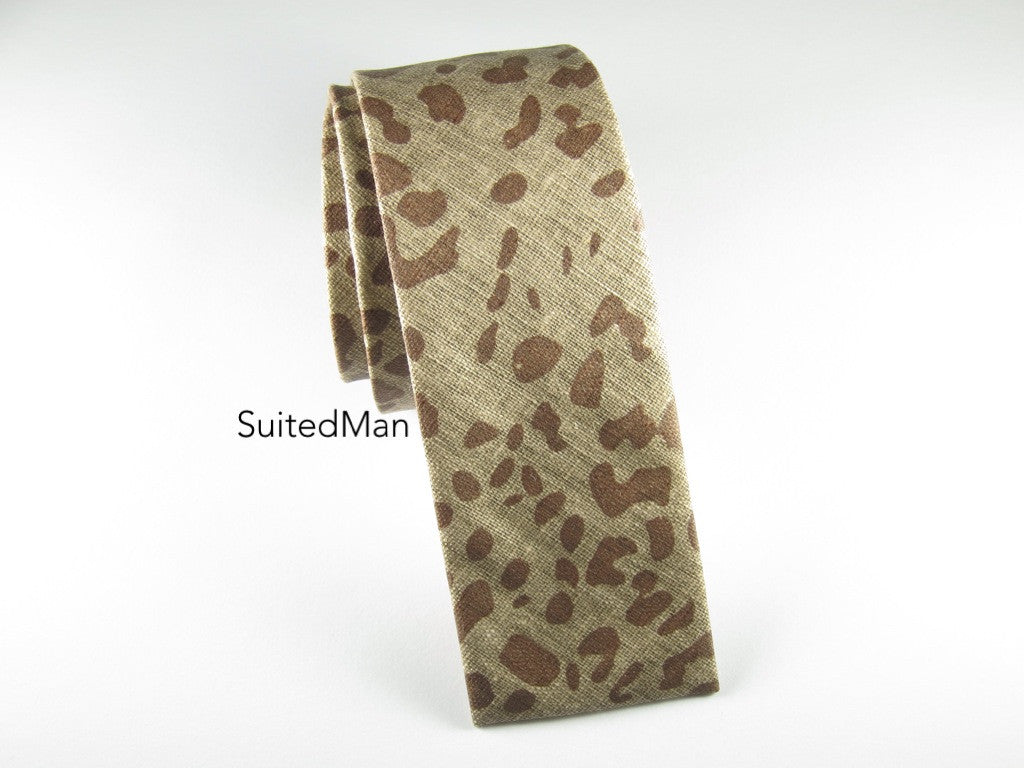 Tie, Safari, Shades of Brown, Flat End - SuitedMan