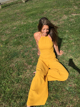 Load image into Gallery viewer, sustainable clothing, sustainable fashion, ethical clothing, ethical fashion, boho clothing, bohemian clothing, boho style, bohemian style, festival fashion, festival jumpsuit, romper, cotton jumpsuit, wide leg jumpsuit