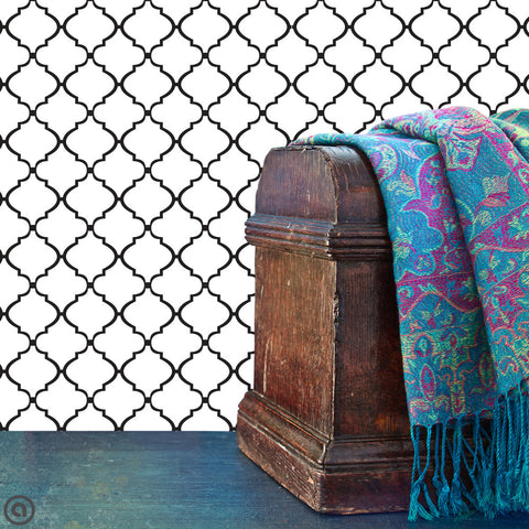 Moroccan Lattice Wallpaper Fabric Wallskins Peel Stick