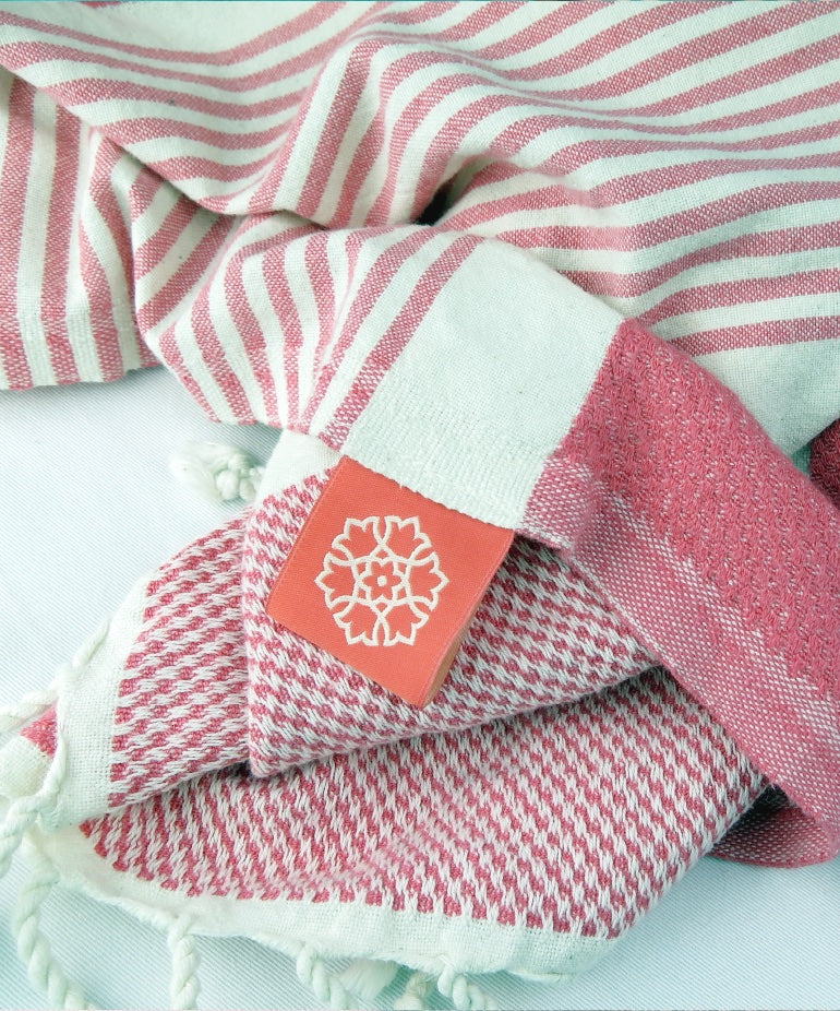 Turkish Towel Medium Bamboo Coral