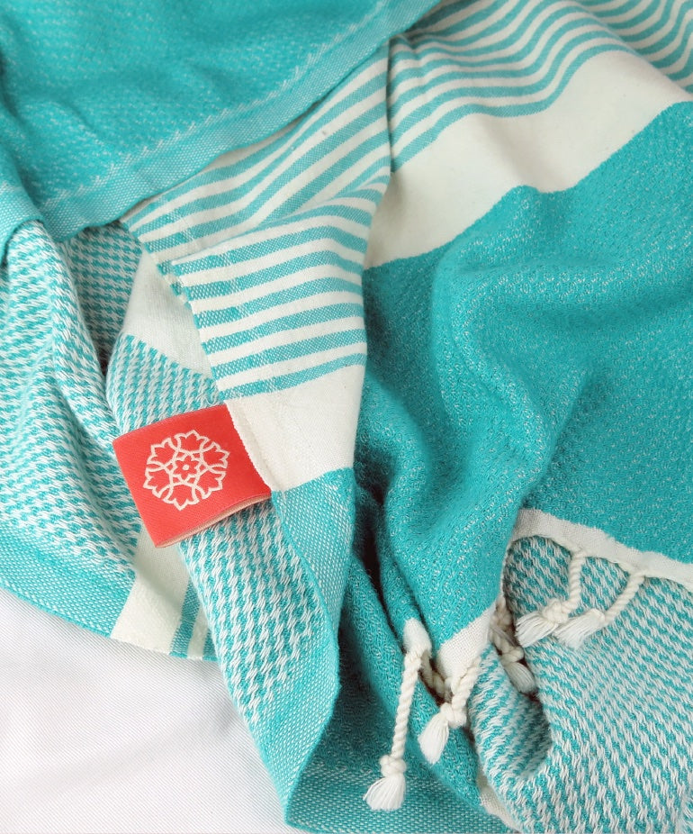 Turkish Towel Large Bamboo Mint