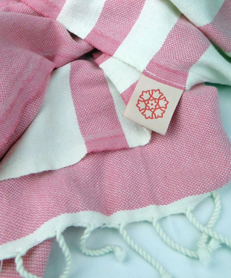 Turkish Towel Large Cotton Coral