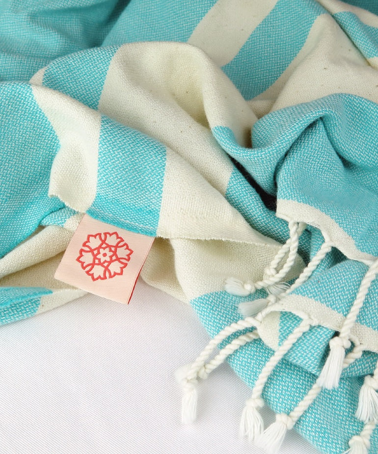 Turkish Towel Medium Cotton Mint