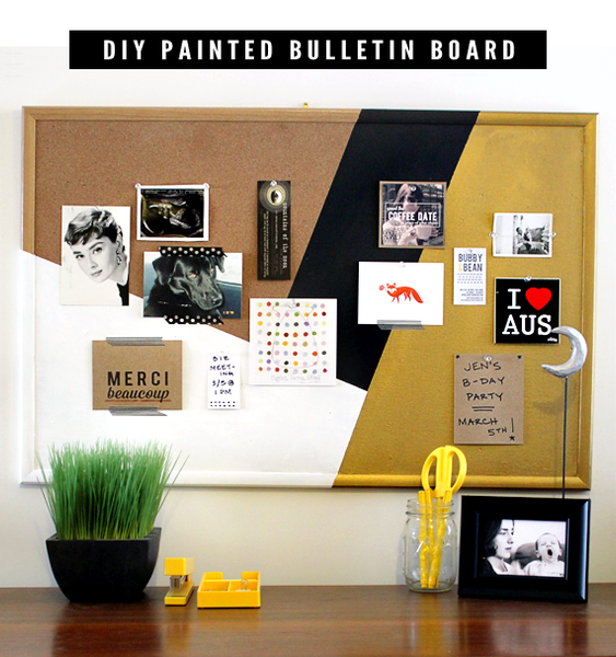painted bulletin board