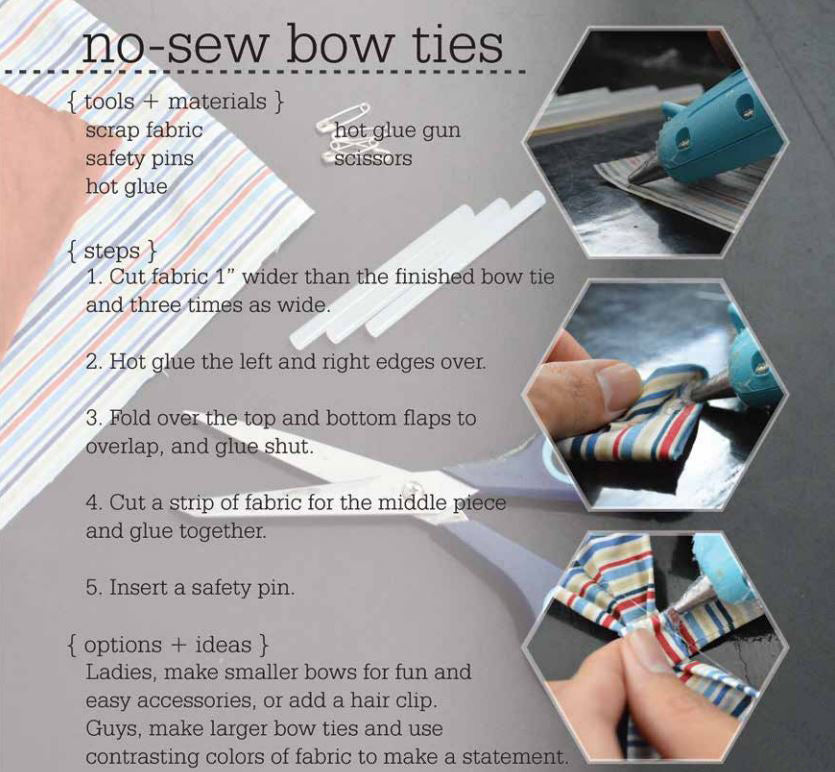 how to make no sew bowtie