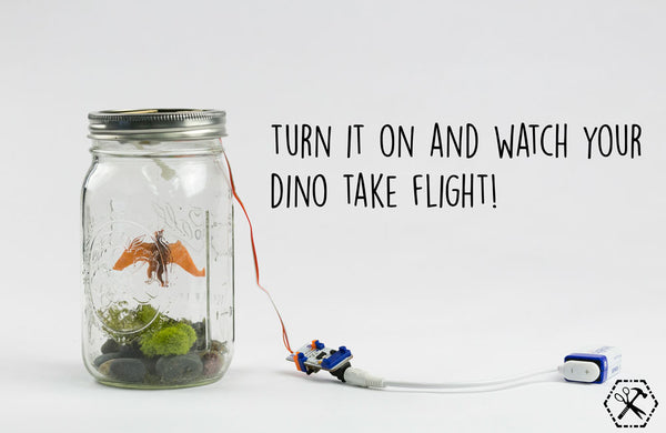 Turn on your flying dino