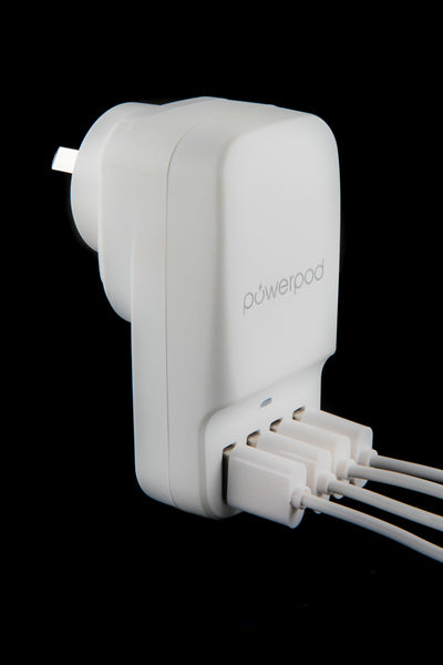 Powerpod Quad Port Wall Charger