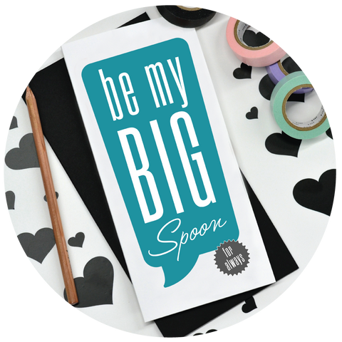 'Be My Big Spoon' Valentine's Card