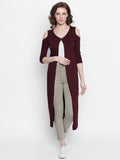 Maroon Colour 3/4 Sleeve Shrug