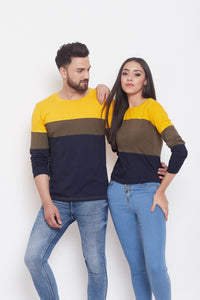 Multi Colourblocked Couple Combo