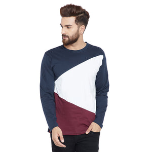 Cotton Colorblocked Full Sleeve Tshirt