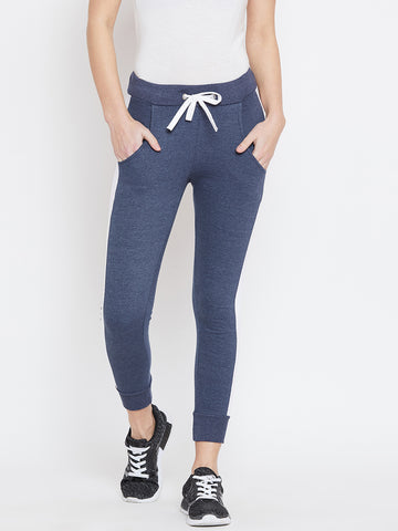 The Dry State Color Block Women Blue Track Pants