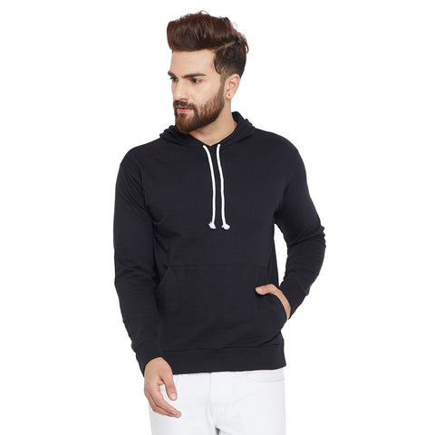 The Dry State Men's Cotton Black   Colured solid  Sweatshirt