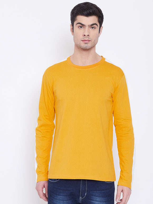 Yellow Coloured Full Sleeve T-shirt