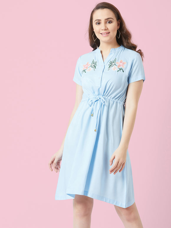 Blue Embrodrised Dress