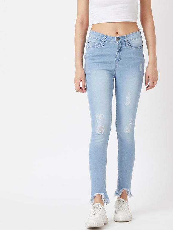 The Dry State Women Light Blue Denim Jeans