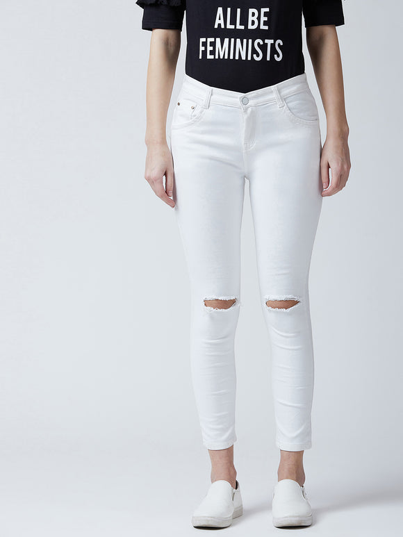 Skinny Women White Jeans