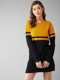 Multi Color Colourblocked Full Sleeve Dress