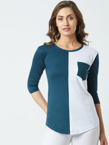 Round Neck Multi Colour Tshirt