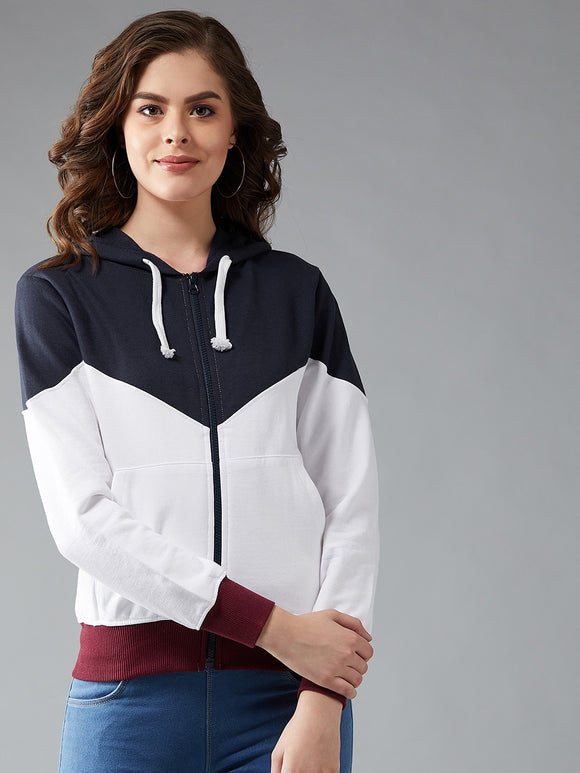 Full Sleeve Colourblocked Sweatshirt