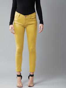 Mustured Coloured Ankle Length Jeans