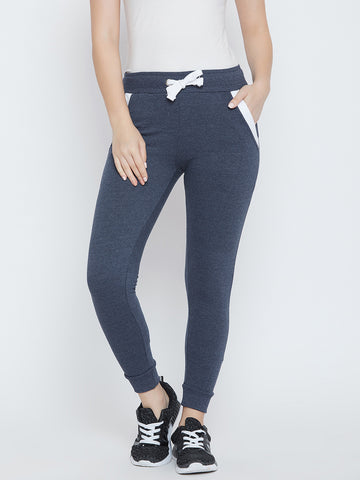 Solid Women Blue Track Pants
